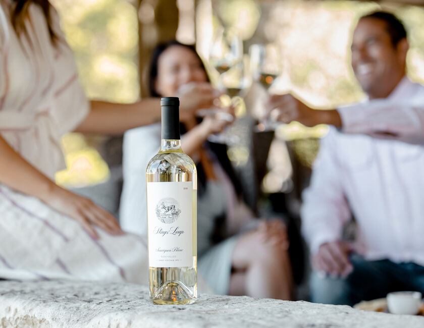 Group of Guests Drinking Stags' Leap Sauvignon Blanc