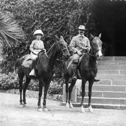 Stags' Leap Historic Photo: Owners Horseback Riding