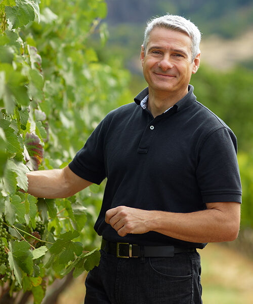 Christophe Paubert in Vineyard