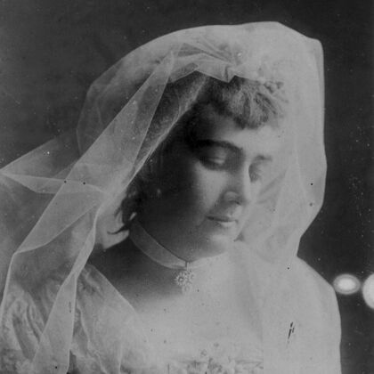 Stags' Leap historic photo of Winnie in Her Wedding Dress