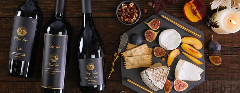 Gift of Stags' Leap Audentia, Cabernet Sauvignon, The Leap Cabernet Sauvignon, & Ne Cede Malis Petite Sirah Paired With Cheese