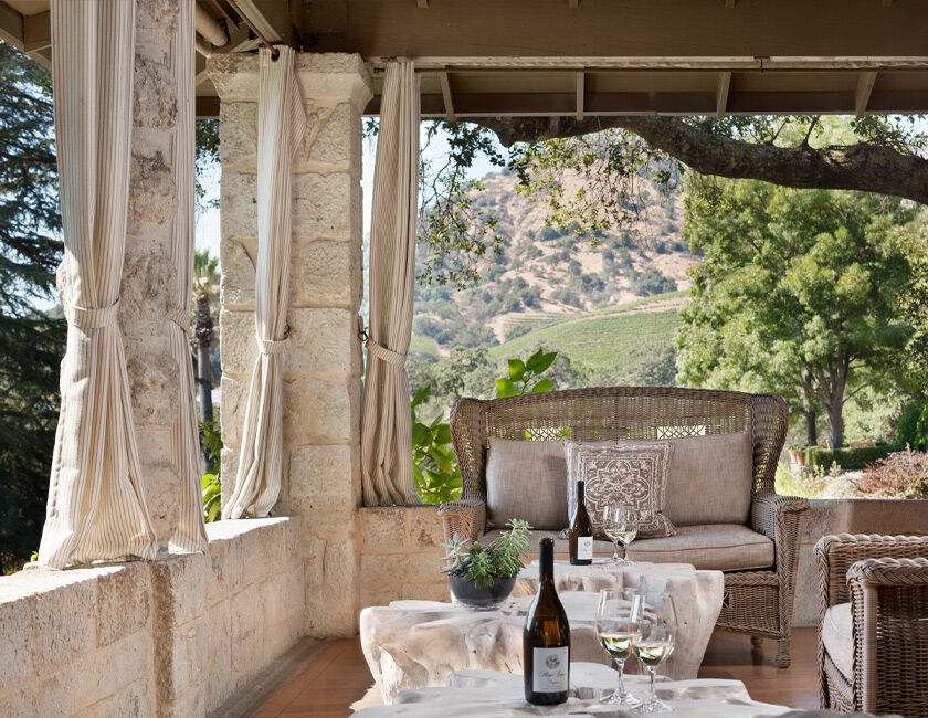 Wine Tasting on the outdoor Stags' Leap Patio
