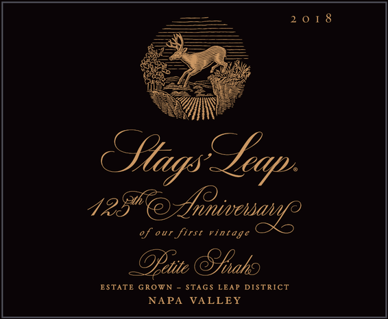 2018 Stags' Leap 125th Anniversary Petite Sirah Magnum Front Label