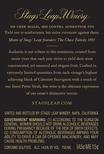 2015 Audentia Napa Valley Cabernet Sauvignon Back Label