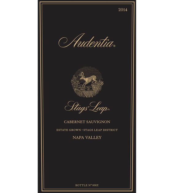 2014 Stags' Leap Audentia Estate Grown Napa Valley Cabernet Sauvignon Front Label