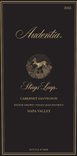 2015 Audentia Napa Valley Cabernet Sauvignon Front Label
