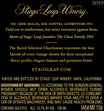 2019 Stags' Leap Barrel Selection Chardonnay Back Label, image 3