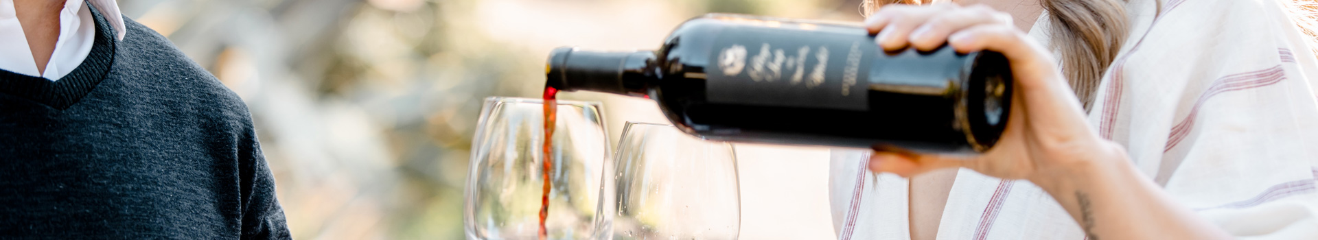 Pouring Stags' Leap Red Wine